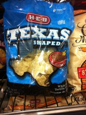 tortilla chips in the shape of Texas - gotta love it