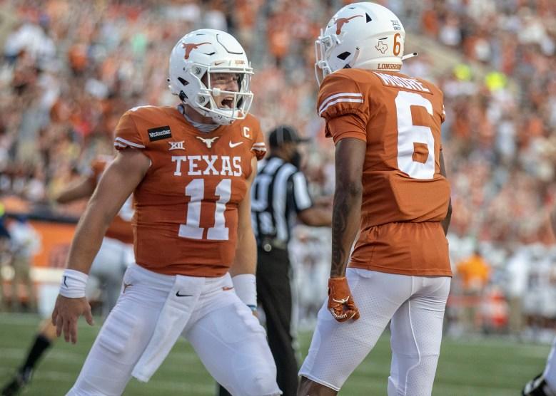 Texas quarterback Sam Ehlinger makes history