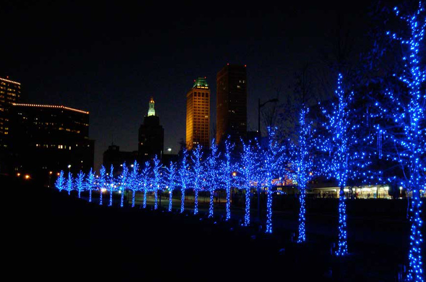 New York City Commercial  Long Island Christmas Light Installation