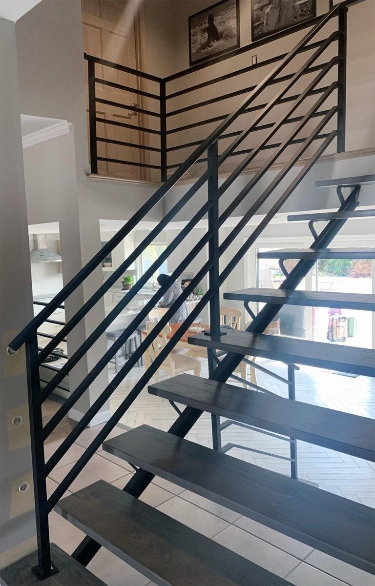 Long Island Stair Railings Gallery Long Island Custom Railings | Tubular Stair Railings Design | Simple | Grill Work | Residential Industrial Stair | Welded | Stair Case Railing