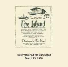 Original ad for Dunewood in the New Yorker, 1958.