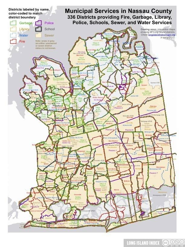 Long Island School District Map : island, school, district, Nassau, County, School, District, World, Atlas