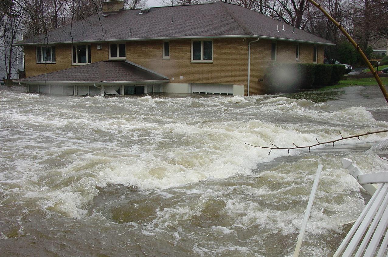 A Flooded House on Long Island