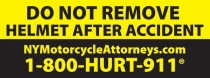 image showing Motorcycle helmet sticker saying Do Not Remove Helmet After Accident