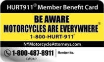 HURT911 Member Benefit Card for Motorcyclists