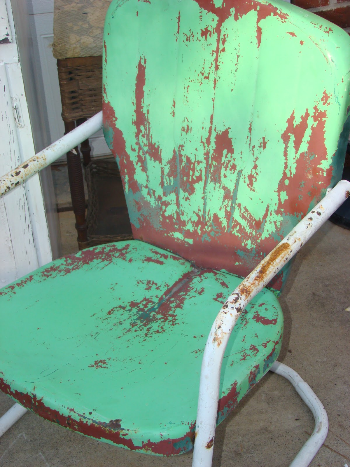 Retro Lawn Chairs Vintage Metal Chair Sold The Long Island Pickers