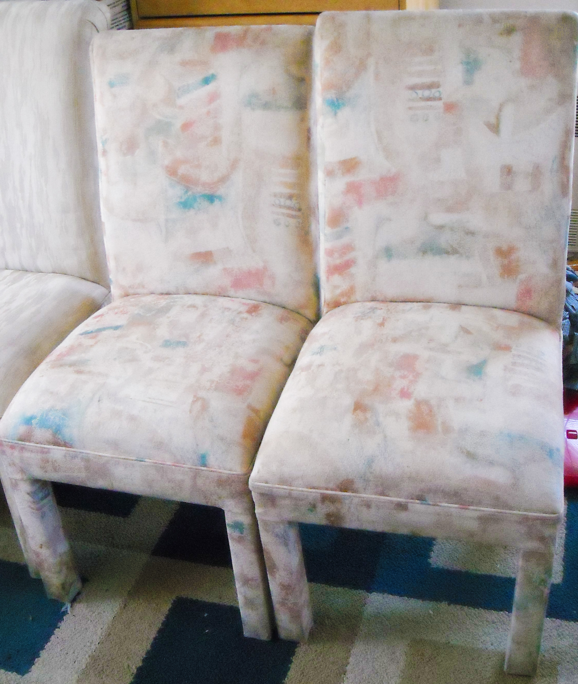 parson chairs cheap protective chair covers for dogs pair of vintage padded parsons sold the long island pickers create comfortable