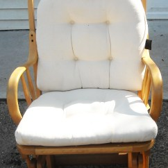 Slipcover For Glider Rocking Chair French Country Kitchen Cushions Vintage Shermag Bent Wood Rocker In The Danish