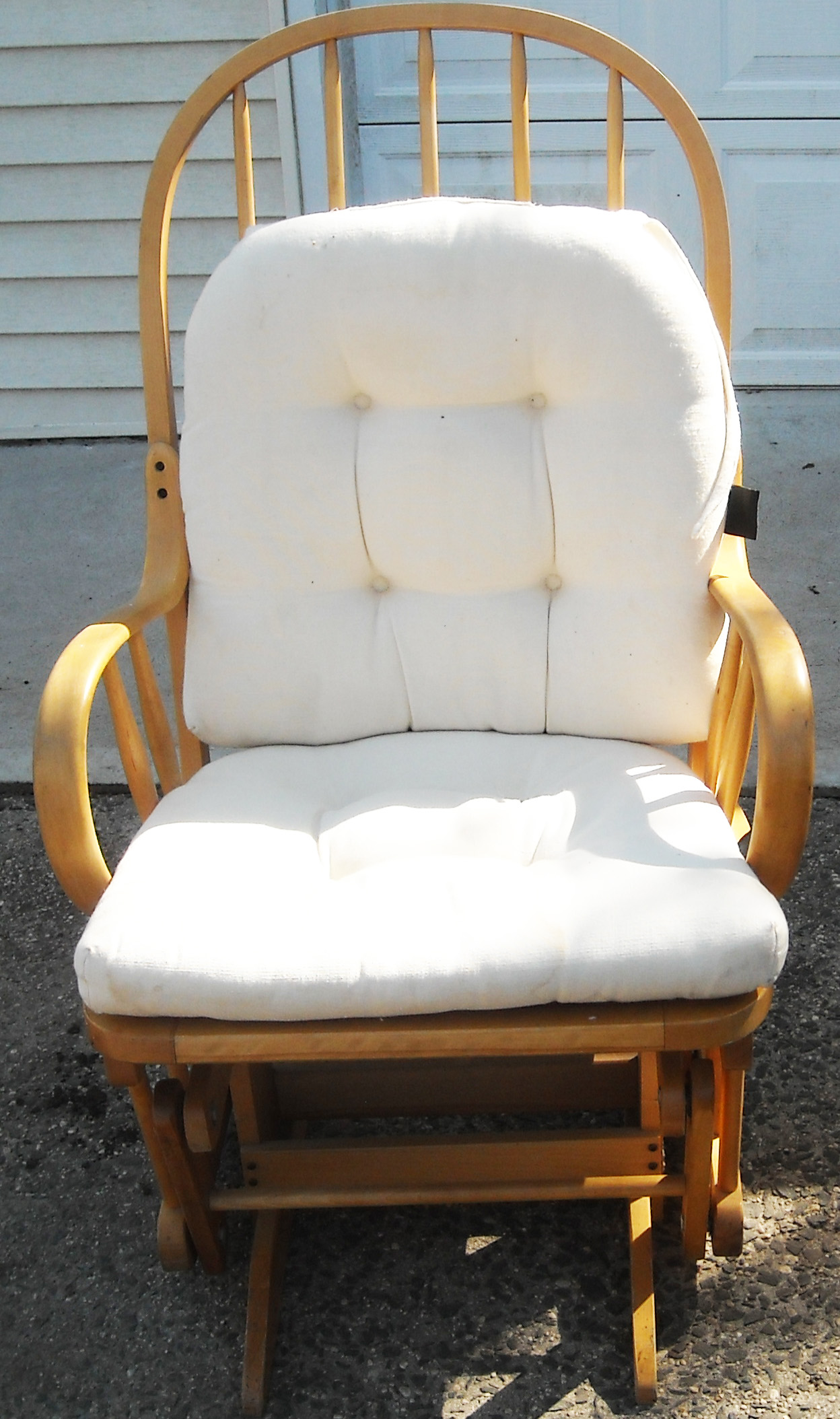 Gliding Rocking Chair Vintage Shermag Bent Wood Glider Rocker In The Danish
