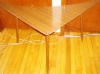 Mid Century Triangle Table | The Long Island Pickers