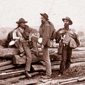 Confederate prisoners at Gettysburg
