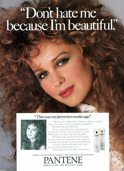 Pantene ad from 1987.