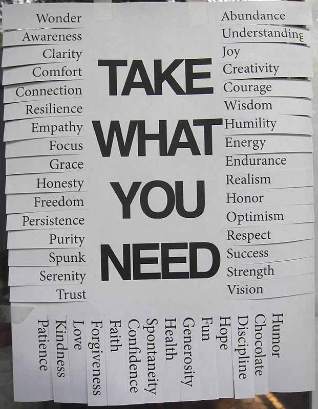Take What You Need Flyer - Gerald Grow's Home Page