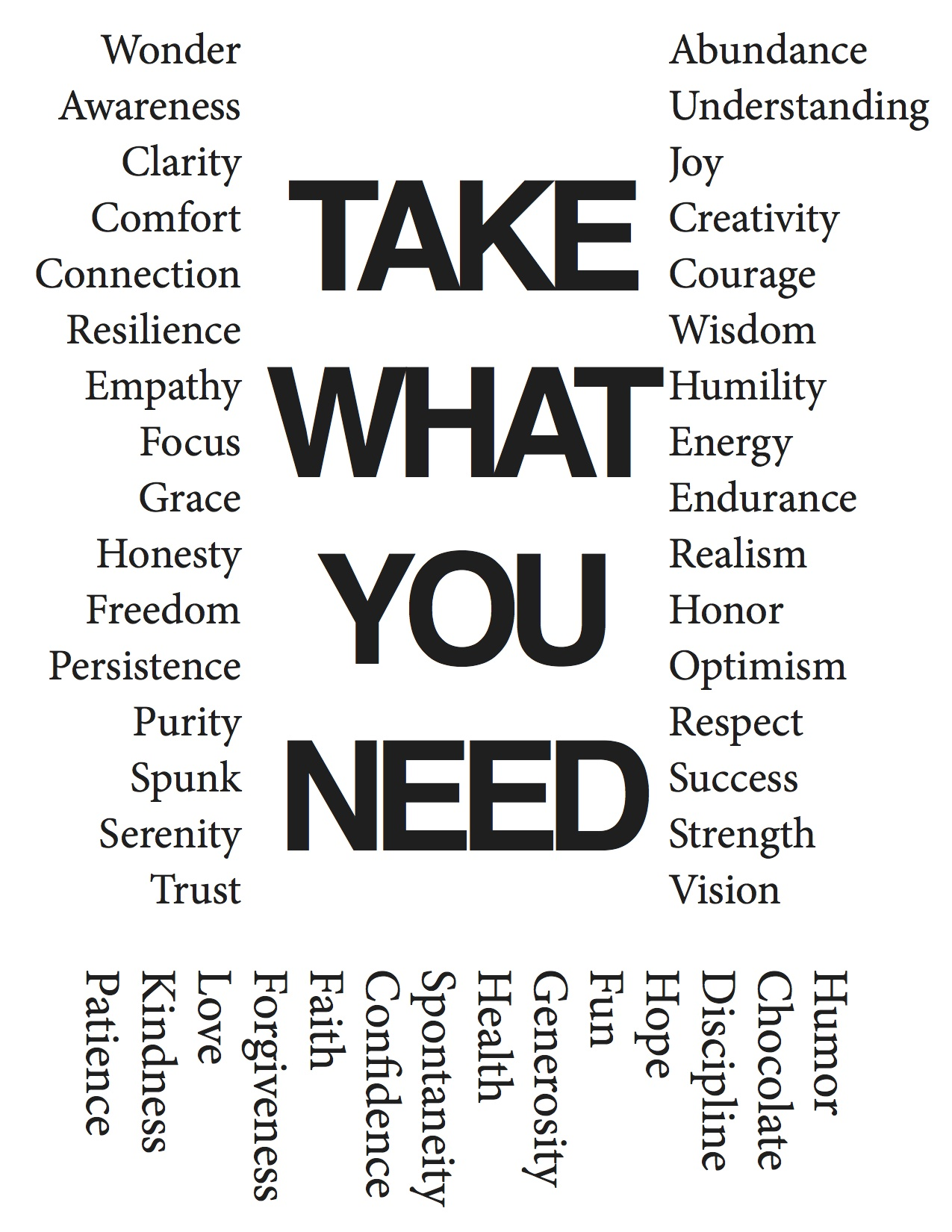 Take What You Need 4a