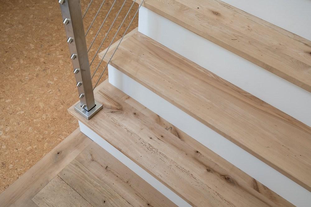 Longleaf Lumber Custom Reclaimed Wood Stair Treads | Finished Wood Stair Treads