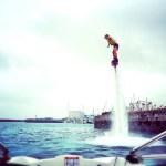 沖縄でフライボードに挑戦!