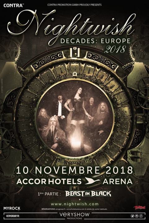 Affiche Nightwish Accor Arena 2018