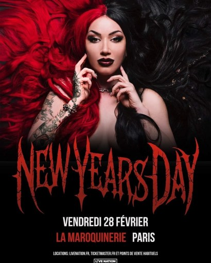 Affiche concert New Years Day Paris 2020