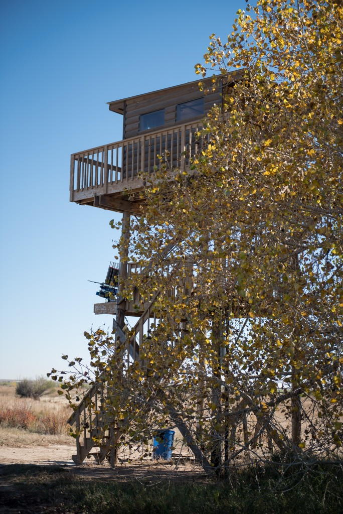 A shooting clays tower at longmeadow event center