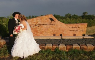 wedding couple at longmeadow event center - Colorado Wedding Venue