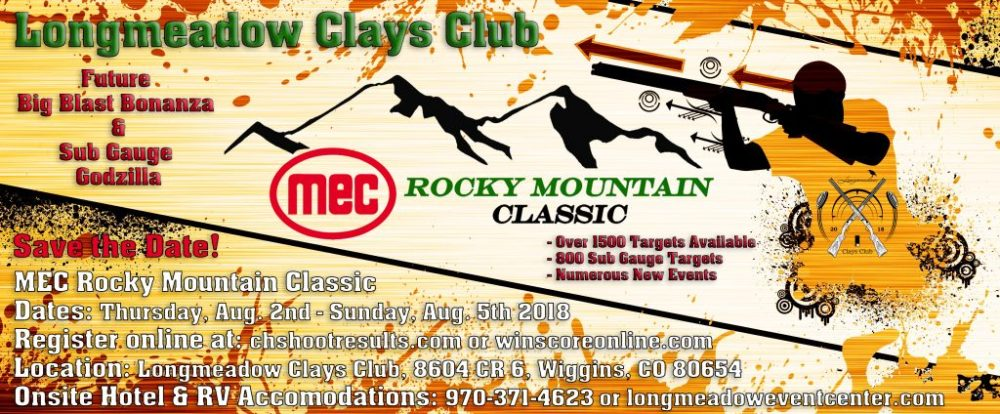Longmeadow Clays Club - MEC Rocky Mountain Classic Save the Date Flyer - 7 Tips for Sporting Clays