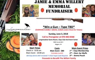 A flyer for the Jamie and Emma Willert Memorial Fundraiser