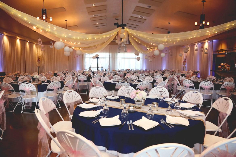 The Longmeadow Ballroom beautifully decorated.