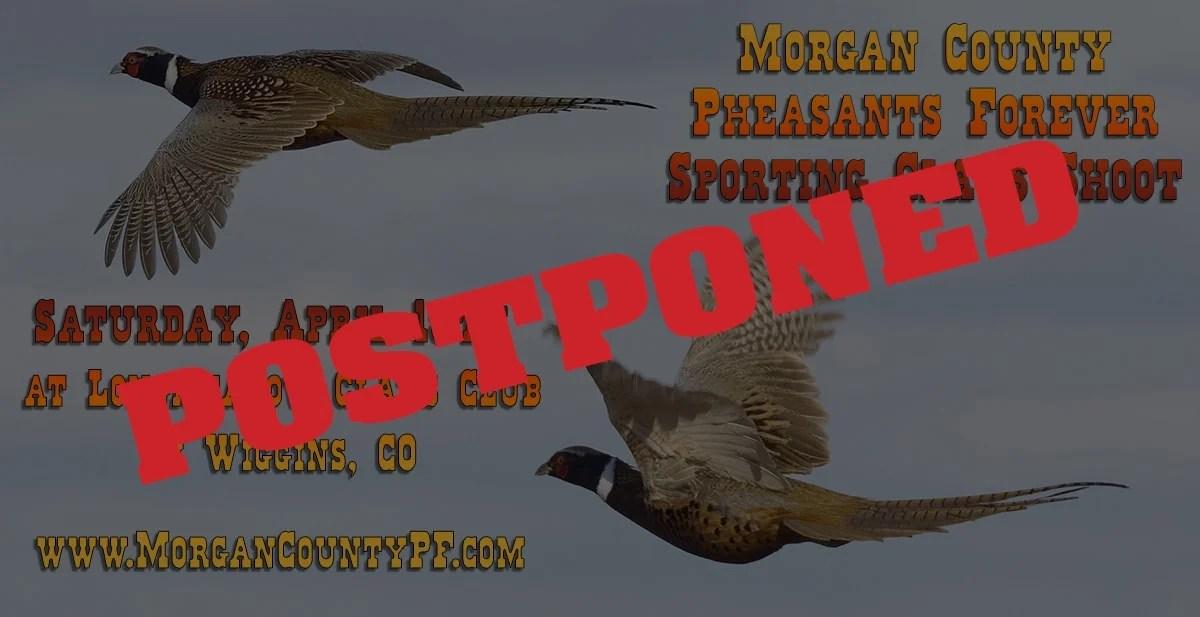 Pheasants Forever Shoot Event Flyer - Postponed