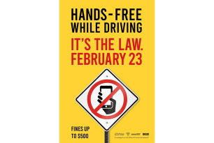 Longmeadow Police Department Reminds Residents of Upcoming Hands-Free Law for Drivers