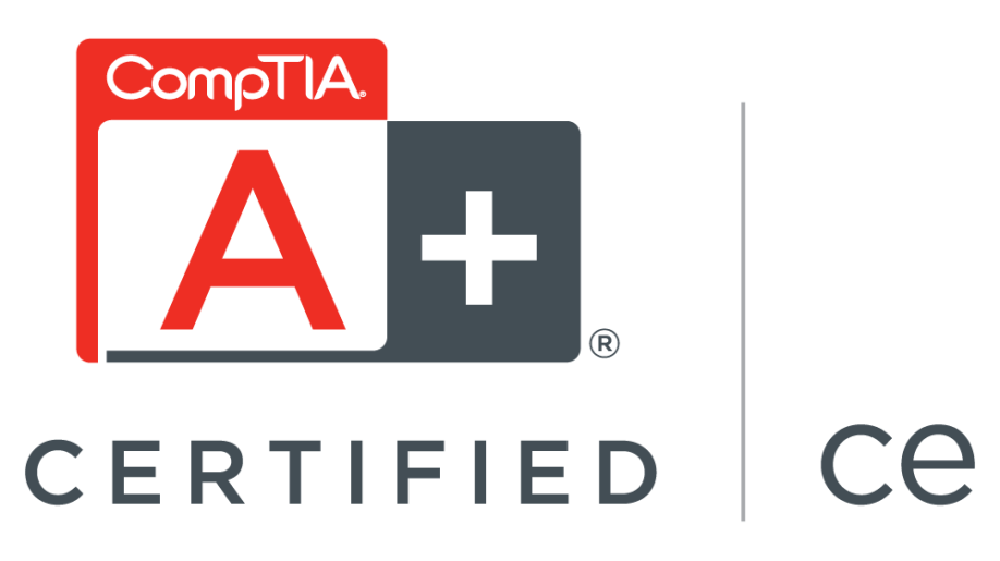 Longmont Computer - CompTIA A+ Certified for the maintenance of PCs, mobile devices, laptops, operating systems, networks, and printers