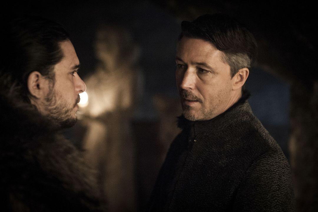 Lord Baelish getting an earful from Jon Snow