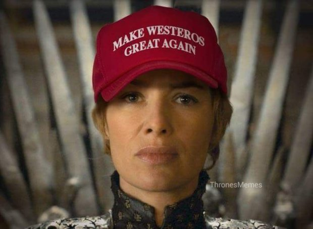 Cersei Lannister sounds quite similar to Donald Trump