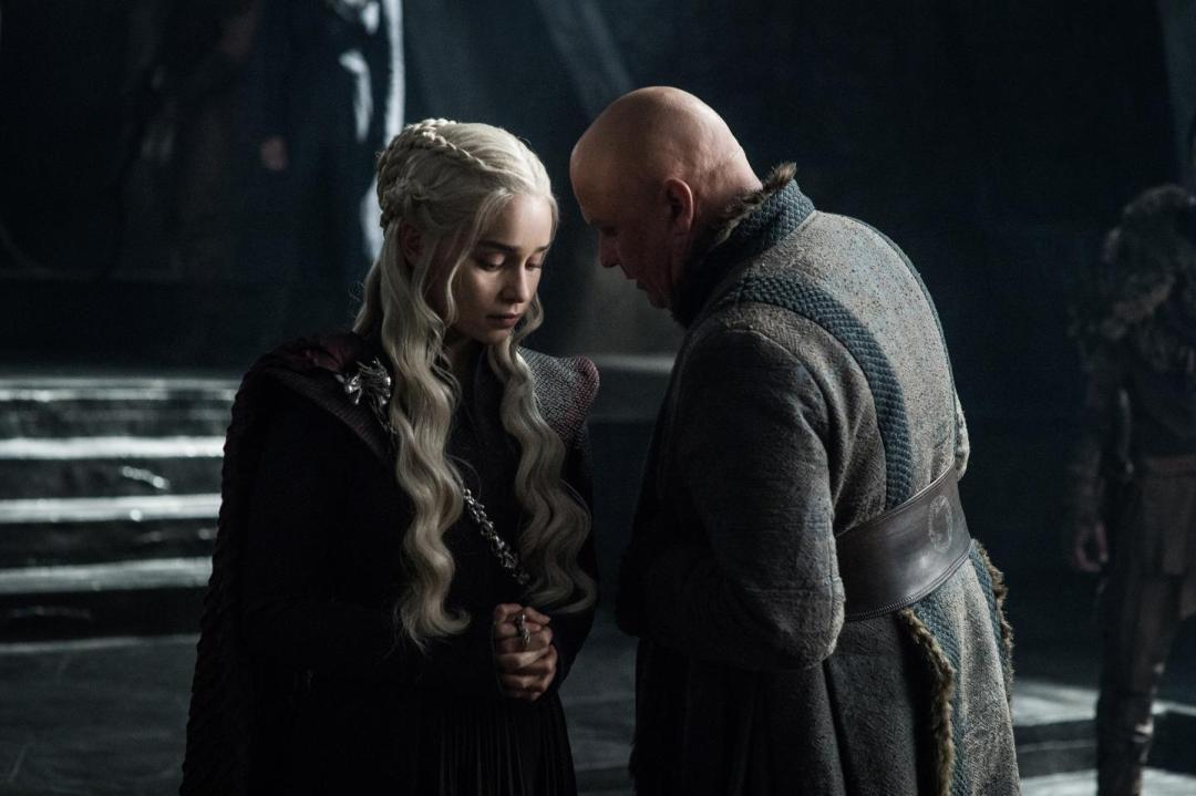 Dany and Varys in conversation in 'The Queen's Justice'