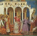 Christ throws the money-lenders and bankers out of the Temple