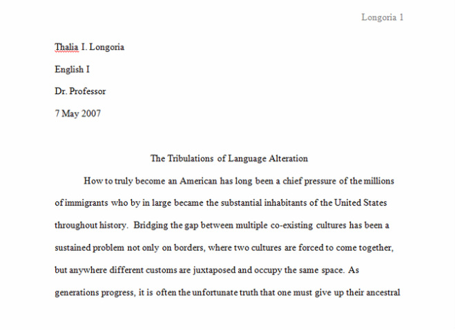 Research Paper Info MS LONGORIA ENGLISH I & UT ONRAMPS