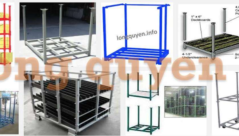 Pallet sắt xếp chồng pallet kim loại thùng hộp đóng mở giới thiệu chung 01