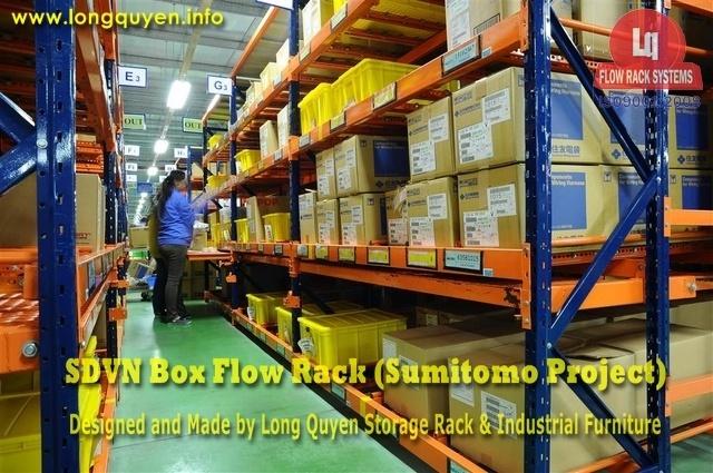 giá kệ trôi box flow rack 1b