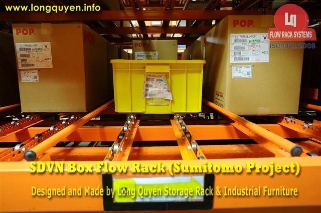 giá kệ trôi box flow rack 1g