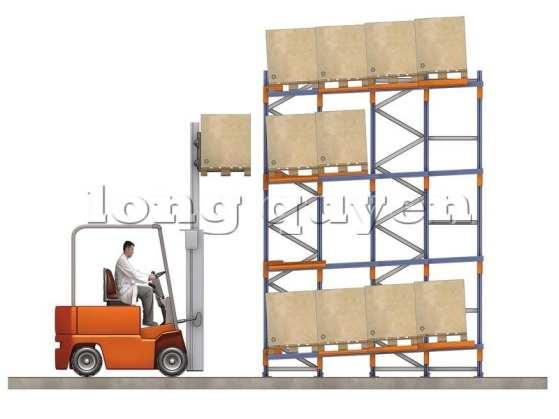 Giá Kệ Để Pallet Sàn Đẩy (Push Back Rack) (5)
