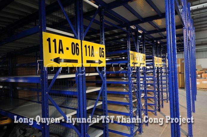 Giá Kệ Kho Phụ Tùng Sàn Tầng Lửng Công ty Hyundai TST Thành Công (5)