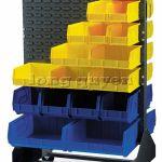 Giá kệ panel cài hộp nhựa xe đẩy vật tư
