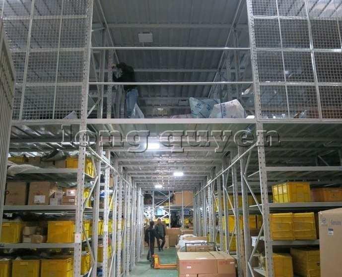 Giá Kệ Vật Tư Kho Tầng Lửng Công ty MAST 20