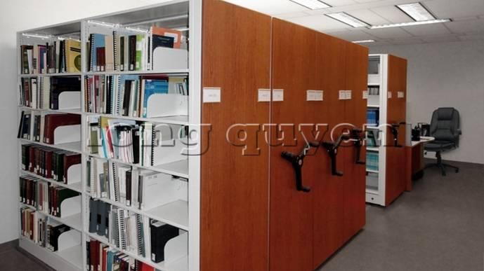Giá kệ thư viện di động gia kệ chạy trên ray (8)