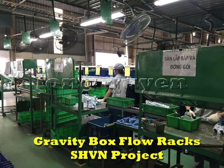 Giá kệ lưu trữ dòng chảy trong lắp ráp công nghiệp tại công ty SHVN (11)