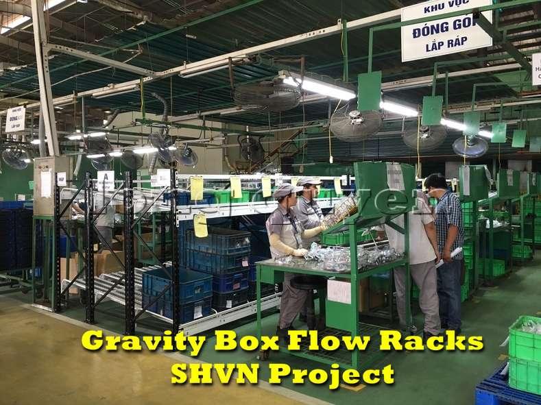 Giá kệ lưu trữ dòng chảy trong lắp ráp công nghiệp tại công ty SHVN (7)