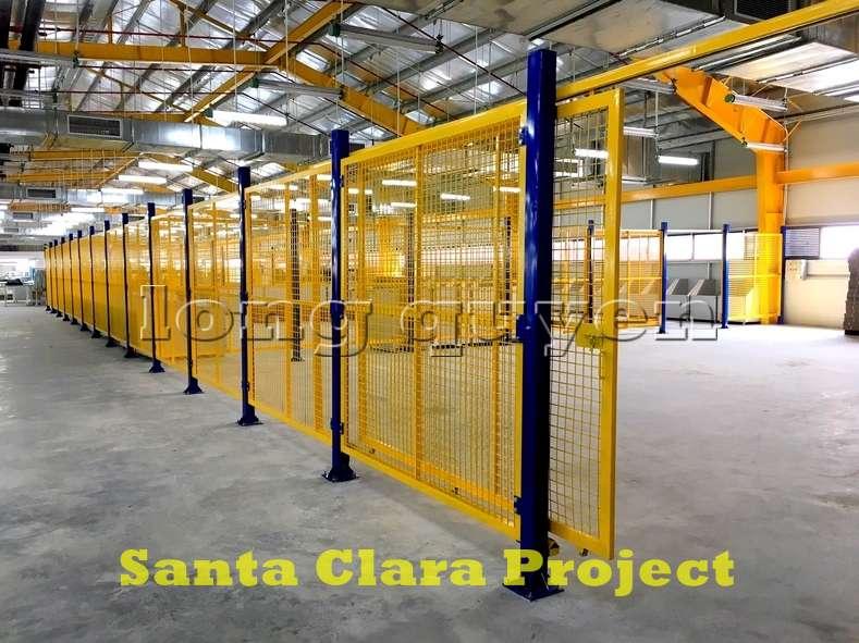Vách ngăn lưới tháo lắp di động trong nhà máy kho hàng (1)