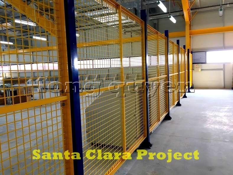 Vách ngăn lưới tháo lắp di động trong nhà máy kho hàng (3)
