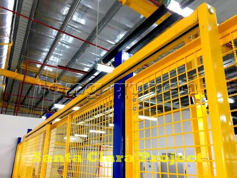 Vách ngăn lưới tháo lắp di động trong nhà máy kho hàng (8)