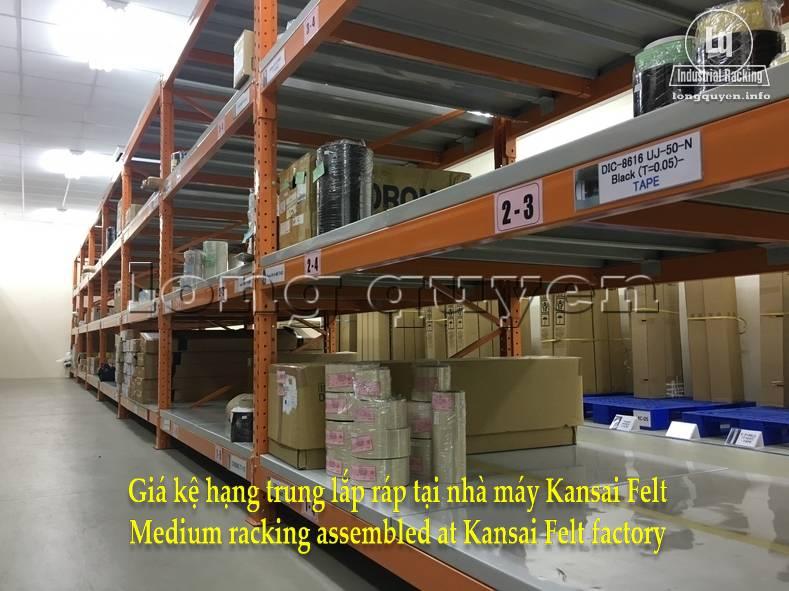 Giá kệ trung tải giá kệ hạng trung lắp ráp tại nhà máy Kansai Felt (3)
