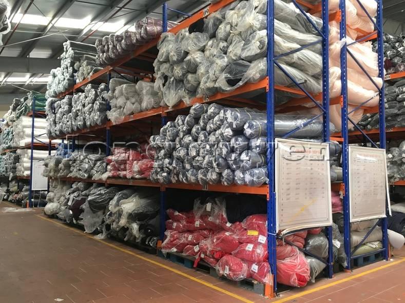 Kệ sắt kệ pallet kho hàng nguyên liệu may mặc vải cuộn công ty May Hà Bắc (5)